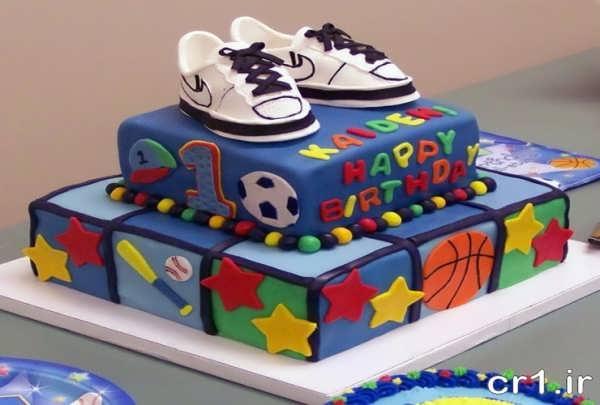 مدل کیک تولد ورزشی پسرانه