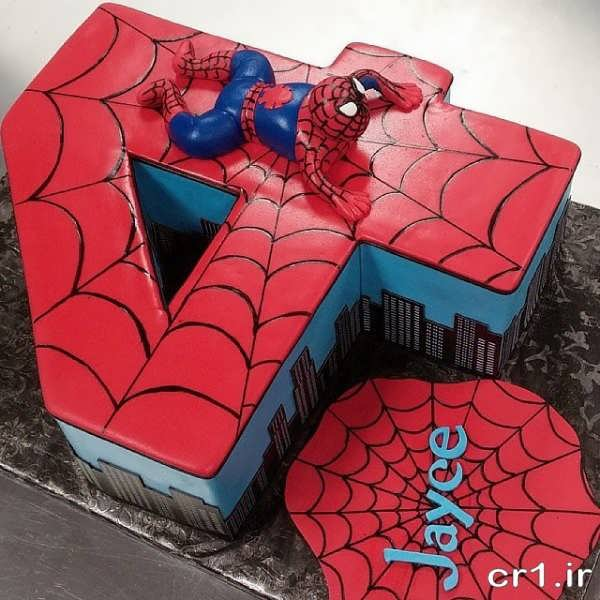 مدل کیک تولد مرد عنکبوتی