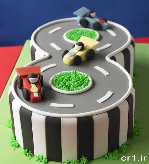 کیک تولد کودکانه زیبا