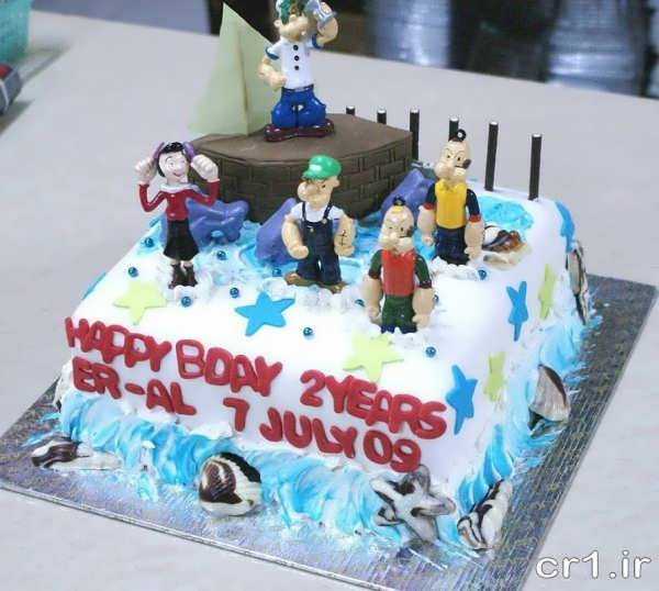 کیک تولد برای پسربچه های ورزشکار