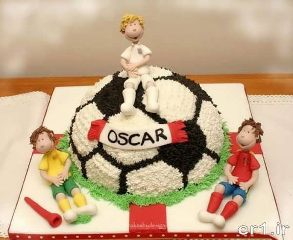 مدل کیک تولد پسرانه فوتبالی