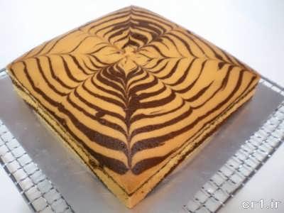 کیک زبرا خوشمزه