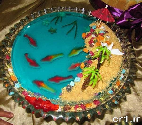 ژله آکواریومی زیبا برای جشن تولد