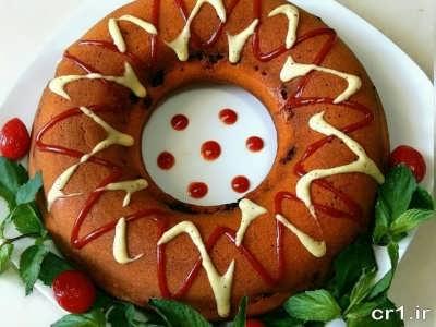 تزیین کیک گوشت