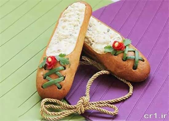 تزیین الویه با نان تست