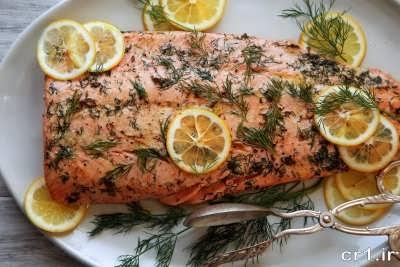 تزیین ماهی سالمون