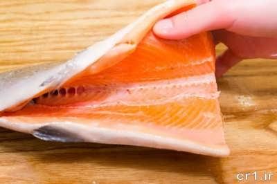 تمیز کردن ماهی سالمون