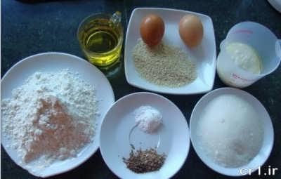 مواد لازم برای تهیه کیک یزدی