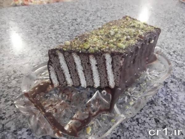 کیک یخچالی خانگی