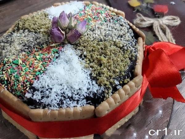 تزیین کیک یخچالی شیک و زیبا