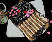 تزیین کیک یخچالی با روش های جالب با استفاده از خامه و ژله