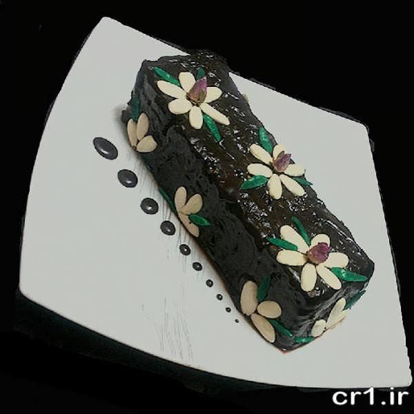 تزیین روی کیک یخچالی