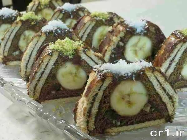 کیک یخچالی هرمی