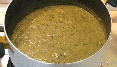 طرز تهیه آش سبزی شیرازی در خانه