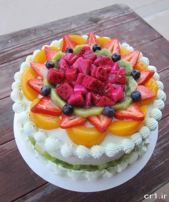 تزیین شیک کیک با میوه