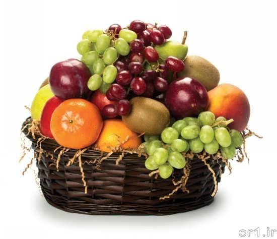 تزیین ساده ظرف میوه