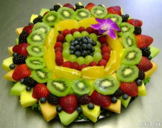 تزیین ظرف میوه شیک و جالب