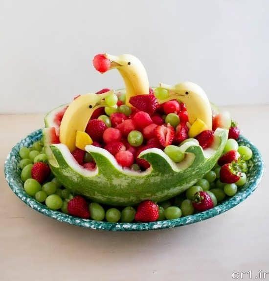 تزیین میوه با روش های جالب و خلاقانه