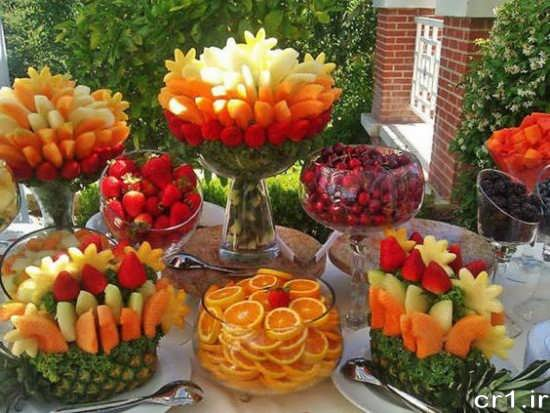 تزیین انواع میوه فصل