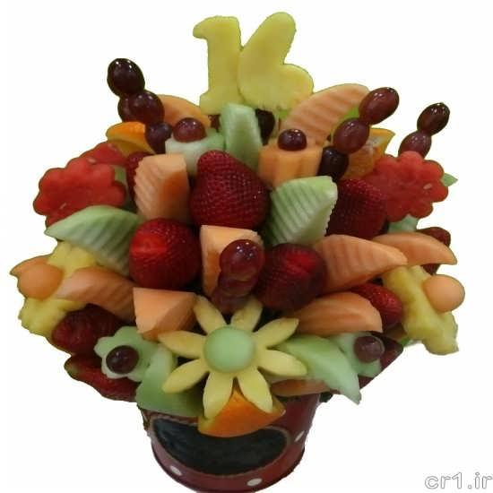 میوه آرایی جالب و جدید با سیخ میوه