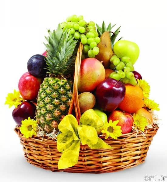 تزیین ساده و شیک ظرف میوه