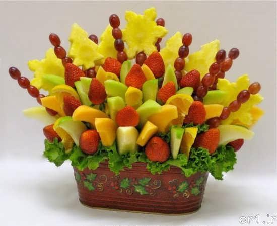 تزیین زیبا و شیک ظرف میوه