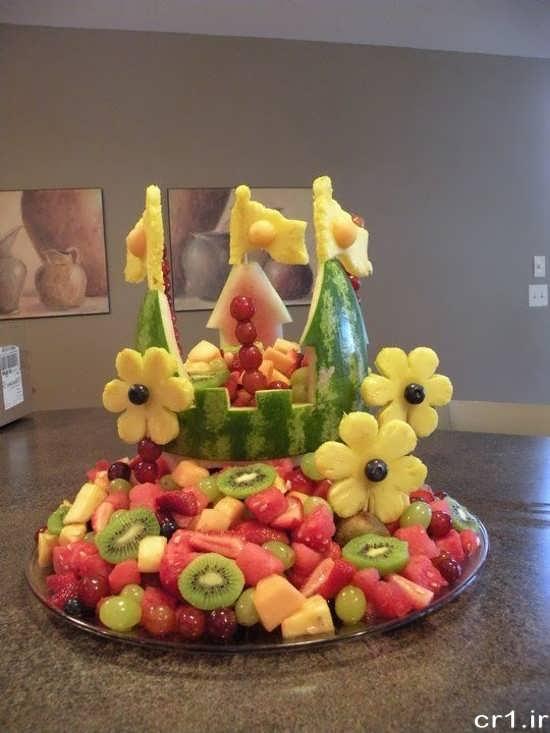 تزیین میوه با روش های مختلف