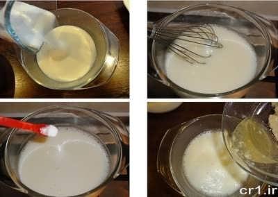 مخلوط پودر ژلاتین و شیر