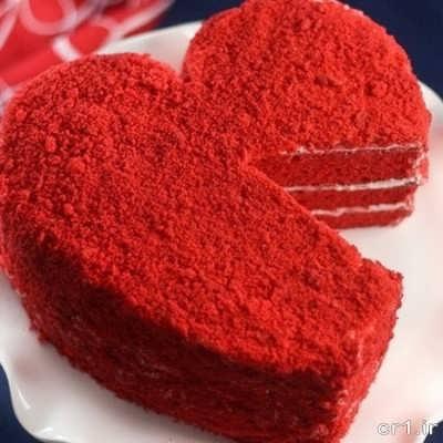 کیک ردولوت برای ولنتاین