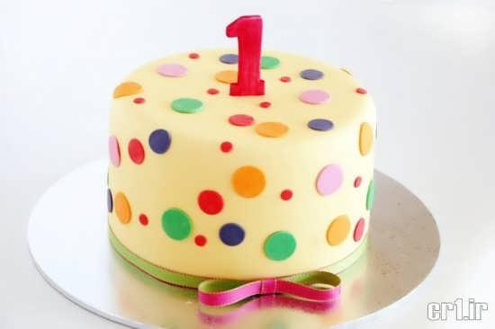 تزیین کیک تولد ساده