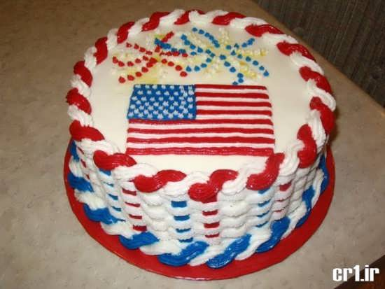تزیین کیک تولد با رنگ های زیبا