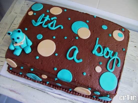 تزیین ساده کیک تولد پسرانه