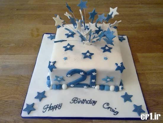 تزیین کیک تولد با خمیر فوندانت