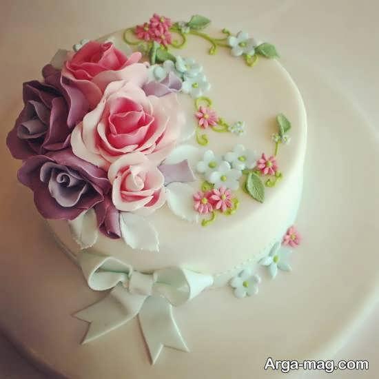 تزیینات کیک با گل