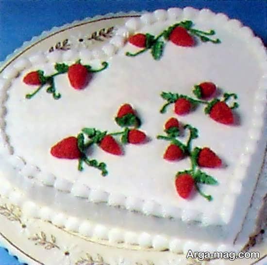 تزیینات کیک به شکل قلب