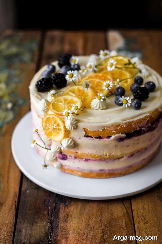 کیک تزیین شده