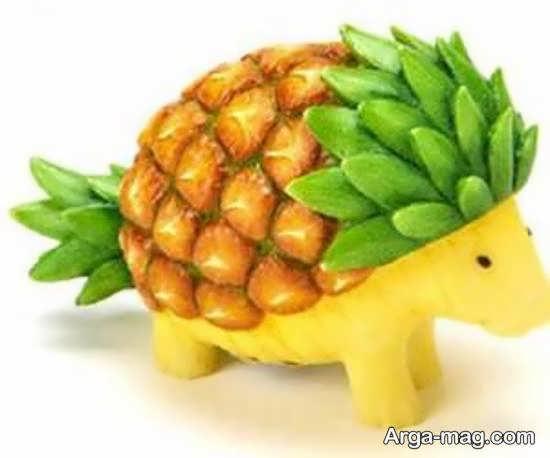 تزیینات آناناس به شکلی زیبا
