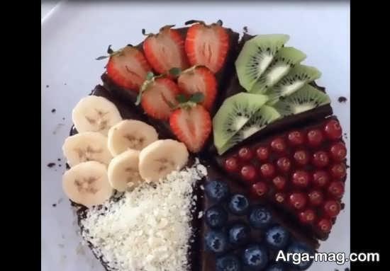 تزیین کیک با میوه فصل