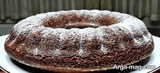 تزیین کیک خانگی با پودر قند