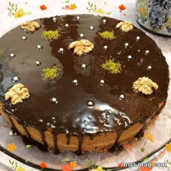 تزیین کیک به روش ساده