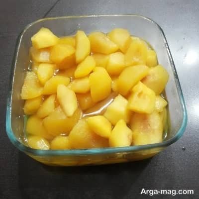 روش اجرای کمپوت سیب خانگی