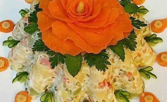 تزئین سالاد ماکارونی زیبا و خلاقانه